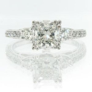 1.88ct Princess Cut Diamond Engagement Anniversary Ring