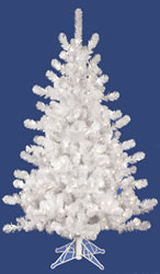 10 Foot, Pre Lit Artificial Christmas Tree, Crystal White, Clear