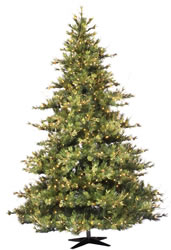 10 Foot, Pre Lit Christmas Tree, Mixed Country, Pine Cones,Clear