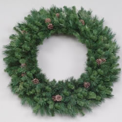 10 Foot, Unlit Artificial Christmas Wreath, Cheyenne, Pine Cones