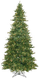 12 Foot, Dura-Lit Christmas Tree Mixed Country, Pine Cones Clear