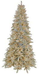 14 Foot, Pre Lit Artificial Christmas Tree, Champagne, Clear