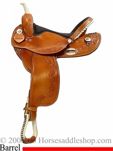 14inch 15inch 16inch Floral Barrel Racing Saddle - Custom Made