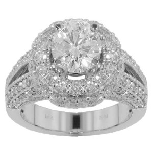 4.00 ct. TW Round Cut Diamond Engagement Ring in Platinum