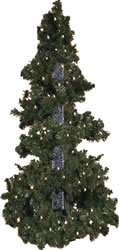 4.5 Foot, Pre Lit Artificial Christmas Tree, Bubble Tree, Clear