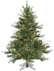 4.5 Foot, Dura-Lit Artificial Christmas Tree, Mixed Country