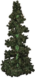 6.5 Foot, Pre Lit Artificial Christmas Tree, Bubble Tree, Clear