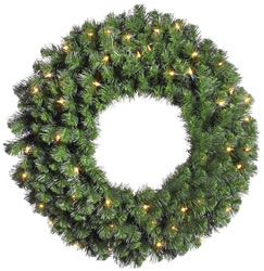 60 Inch, Dura-Lit Artificial Christmas Wreath, Douglas Fir