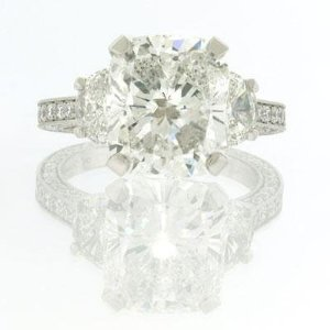 7.10ct Cushion Cut Diamond Engagement Anniversary Ring