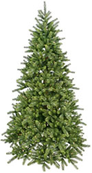 7.5 Foot, Dura-Lit Realistic Christmas Tree, Royal Fir, Clear