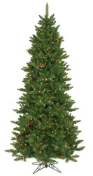 8.5 Foot, Pre Lit Artificial Christmas Tree, Camdon, Multi-Color