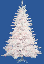 9 Foot, Pre Lit Artificial Christmas Tree, Crystal White, Color