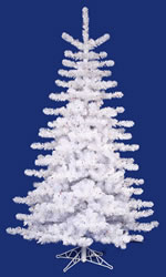 9 Foot, Pre Lit Christmas Tree, Crystal White, Multi-Color, Slim