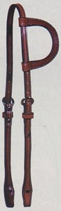 Big Horn Single Ear Headstall 2brown