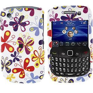 Blackberry Curve 8520/8530 Colorful Butterflies Protective Case
