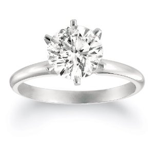 Certified 14k White or Yellow Gold Round Diamond Solitaire