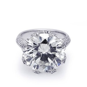 Exquisite Round Crown Engagement Ring (13 3/4 ct. tw.)