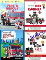 Fire Trucks and Rescue 4-DVD Set