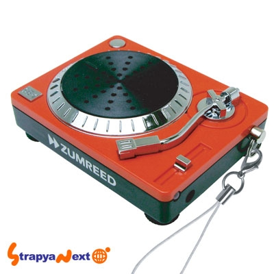 Funky DJ Turntable Nano, Cell Phone Strap Speaker with Scratch