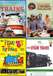 Kids Crazy About Trains 4-DVD Set