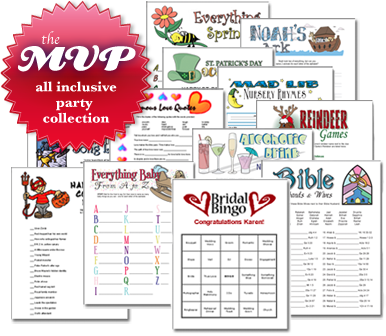 MVP Party Planner's Collection: Holiday & Event Printable Games