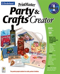 PrintMaster Party & Crafts Creator - CD
