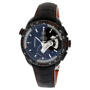 TAG Heuer Men's Grand Carrera Leather Strap Chronograph Watch6,6