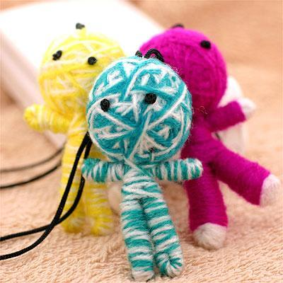 The Cutest Voodoo Doll Powerful Phone Strap Size S 10pcs Set