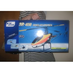 Titan Trex 450 Metal RC Helicopter 6CH 3D FLY RTF Ready To Fly