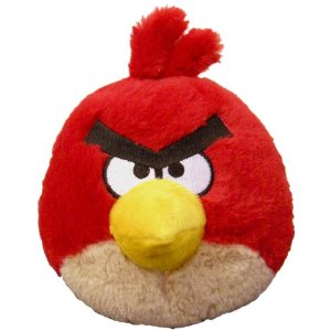 "Angry Birds 5"" Plush Red Bird with Sound"