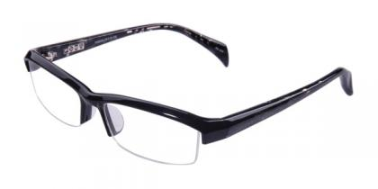 Angela - Black - Plastic Eyeglasses