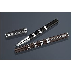 Parker Ingenuity Large Daring Brown Rubber and Metal Chrome Pen