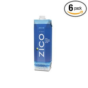 ZICO Pure Premium Coconut Water, Natural, 33.8-Ounce Container